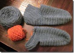 indigo naalbind socks