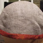 Completed linen hat