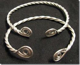 Recreated conquest era magyar bracelets.