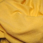Yellow broken diamond twill cloth completed in January 2010.  This picture was taken just after cutting it off the loom, before washing and drying.