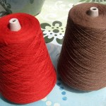 Wool worsted yarn in two colors for the Rus Kaftan cloth.