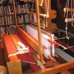 Completed Rus kaftan cloth on the loom.