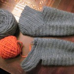 Still working on these socks.  They are made with indigo hand-dyed Lopi 100% wool yarn and will be accented with madder-dyed yarn.