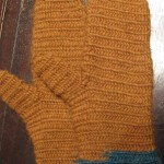 This is my first completed project: a pair of naalbind mittens.  It is completed in 100% Peruvian Highland Wool (3.5oz and 174yards per skein) by Berroc.