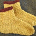 My second project was a pair of socks for myself in Lopi 100% wool singles.