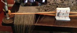 Tablet weaving on my dining room table with C-clamps.