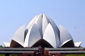 The Baha'i lotus temple in Delhi.